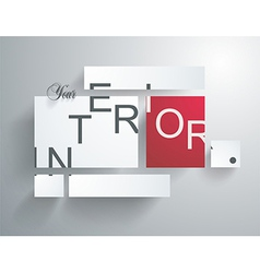 Square blank background - Design Concept vector image vector image