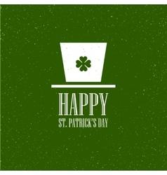 St Patricks Day flat card design vector image