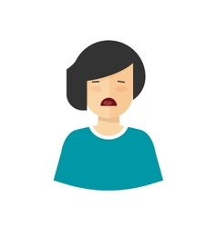 Unhappy woman crying upset girl with sad vector