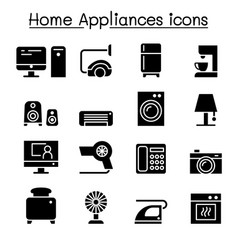 appliance icon set graphic design vector image vector image