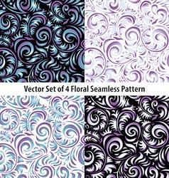 Seamless Wallpaper Pattern set colors vector image vector image