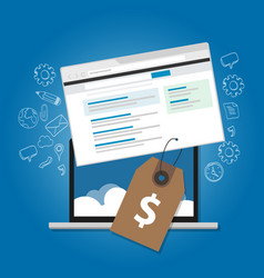 software pricing online advertising service web vector image vector image