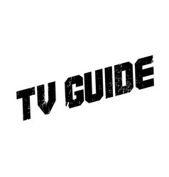 Tv guide rubber stamp vector