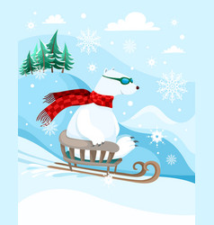 winter fun vector image vector image