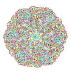 abstract colorful mandala vector image vector image