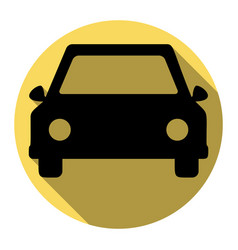 car sign flat black icon vector image
