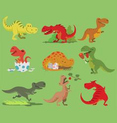 cartoon dinosaur tyrannosaurus rex vector image