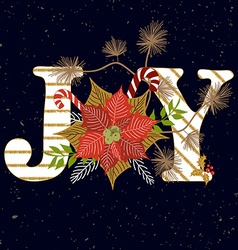 Joy composition vector image