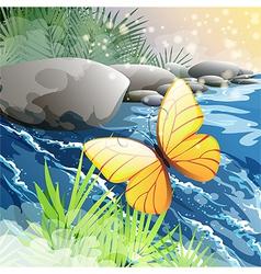 Morning creek vector image vector image