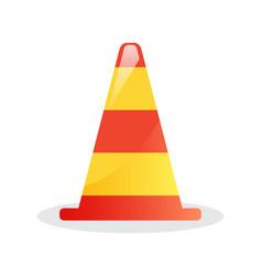 striped traffic cone icon vector image