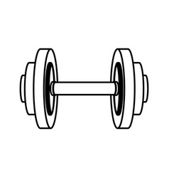 weight gym tool icon vector image vector image