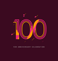 100 year retro anniversary celebration template vector