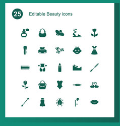 25 beauty icons vector