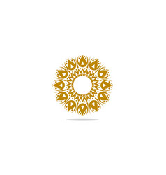 abstract elegant ornamental logo icon design vector image