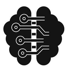 ai smart brain icon simple style vector image