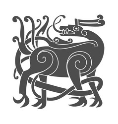 ancient celtic mythological symbol deer vector image