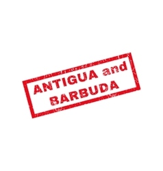 Antigua And Barbuda Rubber Stamp vector image