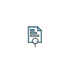 bar chart icon design marketing icon line vector image