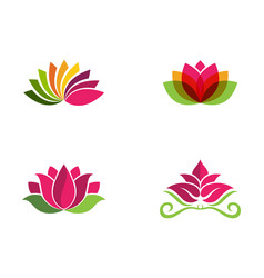 Beauty flowers logo vector
