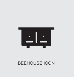 Beehouse icon vector