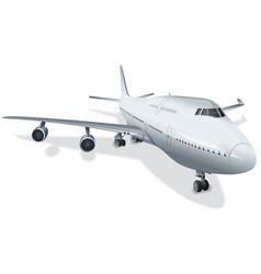 Big passenger airplane vector