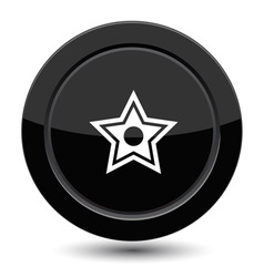 Button with star vector image