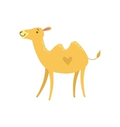 Camel Stylized Childish Drawing vector