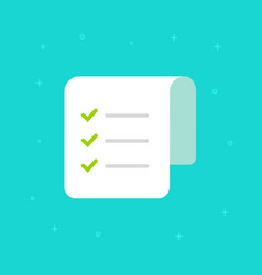 checklist icon flat paper document vector image