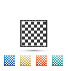 Chess board icon isolated on white background vector