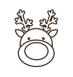 christmas reindeer character isolated icon vector image vector image