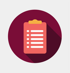 clipboard icon with form vector image