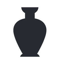 closeup of clay vase isolated on white background vector image