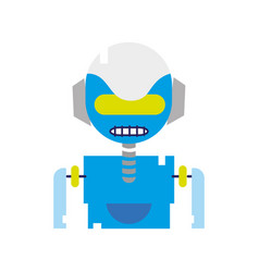 colorful robot face with technology robotic chest vector image