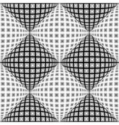 Design seamless monochrome warped diamond pattern vector