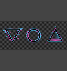 Distorted geometric frames color change a vector