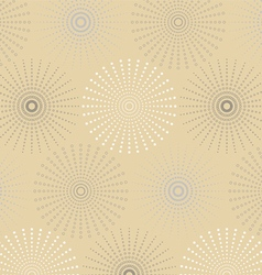 Dotted line spherical geometric seamless pattern vector