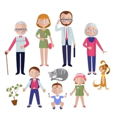 Family Flat Style Concept vector