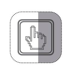 figure emblem hand cursor vector image