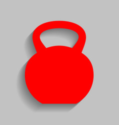 fitness dumbbell sign red icon with soft vector image