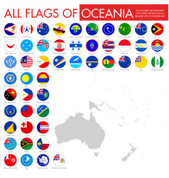 Flags australia and oceania vector