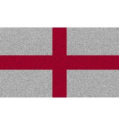 Flags England on denim texture vector