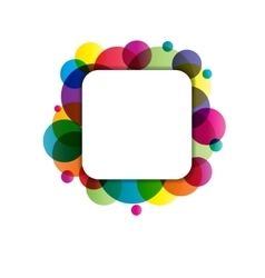 Frame with circles vector image