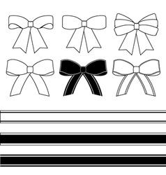 Gift bows vector