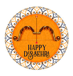 Happy dussehra celebration festival decorative vector