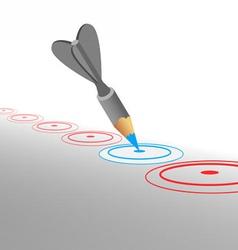 Hit marketing goals vector