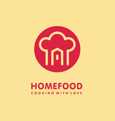 home cooking food logo vector image