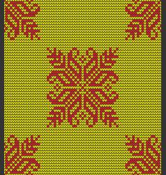 hot flower knitting pattern vector image
