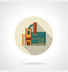 Industrial plant flat color icon vector