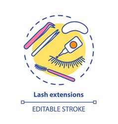 Lash extension concept icon false eyelashes vector