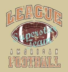 League american football revise vector